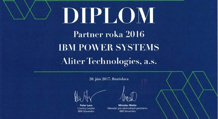 IBM awarded its partners for the year of 2016, Aliter Technologies must not miss in between them
