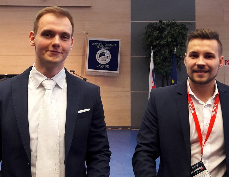 Filip Mikuš and Jakub Obetko at the SecTec Security Day 2018 Conference
